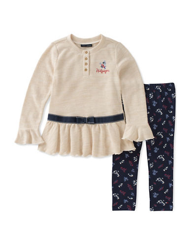 Tommy Hilfiger Two-Piece Tunic and Leggings Set-BLUE-24 Months