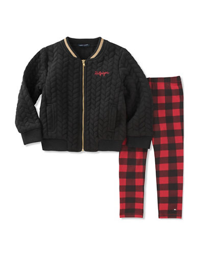 Tommy Hilfiger Two-Piece Bomber Jacket & Leggings Set-ASSORTED-6X