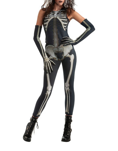 Rubies Costumes Womens Skelee Girl Costume-BLACK/WHITE-Medium