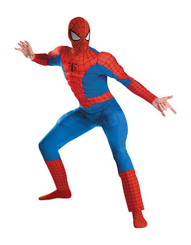 Rubies Costumes Spiderman Muscle Chest Adult Costume-BLUE-X-Large