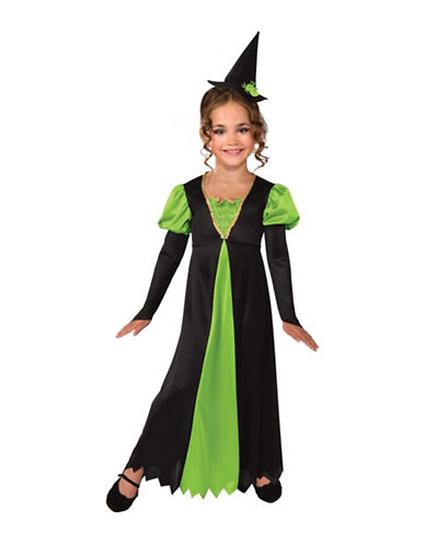 Rubies Costumes Kids Charming Witch Costume-BLACK/GREEN-Medium