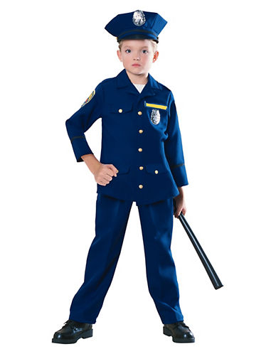 Rubies Costumes Kids Police Officer Costume-BLUE-Large