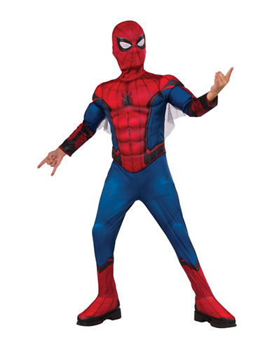 Rubies Costumes Spiderman The Homecoming Spiderman Deluxe Kids Costume-RED/BLUE-Small