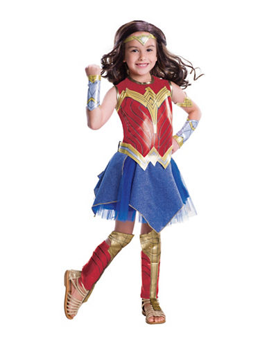 Rubies Costumes Justice League Wonder Woman Deluxe Kids Costume-RED/BLUE-Medium