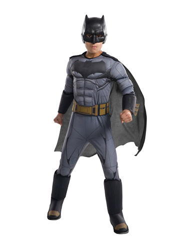 Rubies Costumes Justice League Batman Deluxe Kids Costume-BLACK-Small