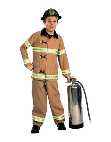 Rubies Costumes Kids Firefighter Costume-YELLOW-Medium