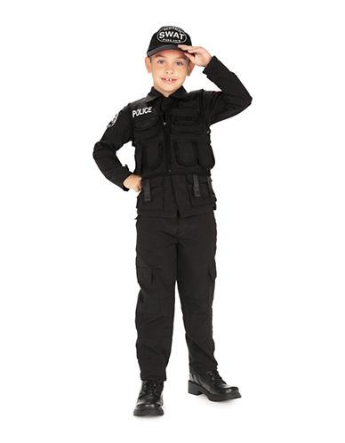 Rubies Costumes Kids Swat Police Costume-BLACK-Large