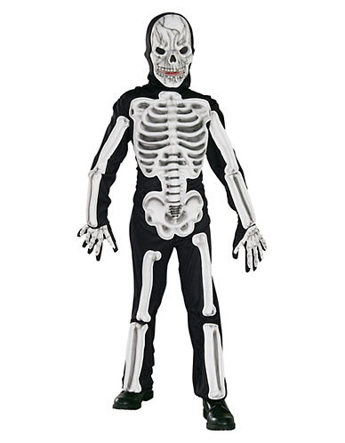 Rubies Costumes Kids Eva Skeleton Costume-WHITE/BLACK-Large