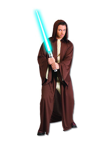 Rubies Costumes Hooded Jedi Robe Costume-BROWN-Large