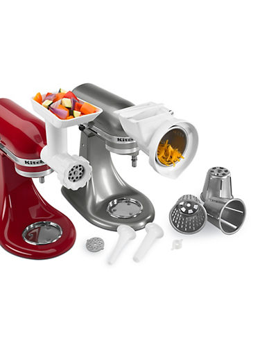 Kitchenaid Gourment Stand Mixer Attachment Pack-WHITE-One Size