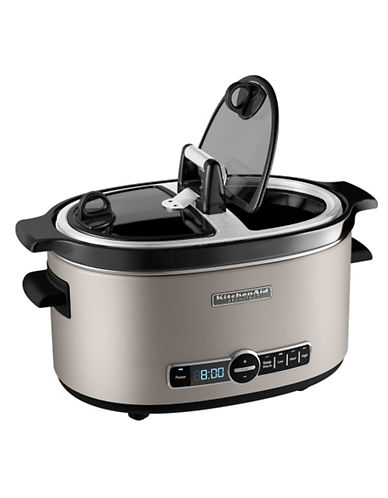 Kitchenaid Architect 6 quart Slow Cooker-COCOA SILVER-One Size