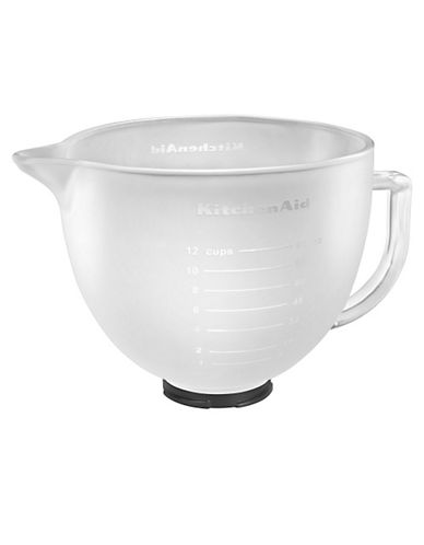 Kitchenaid Frosted Glass Bowl for Stand Mixer-WHITE-One Size