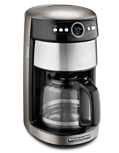 Kitchenaid Architect 14 Cup Coffee Maker Cocoa Silver-COCOA SILVER-One Size
