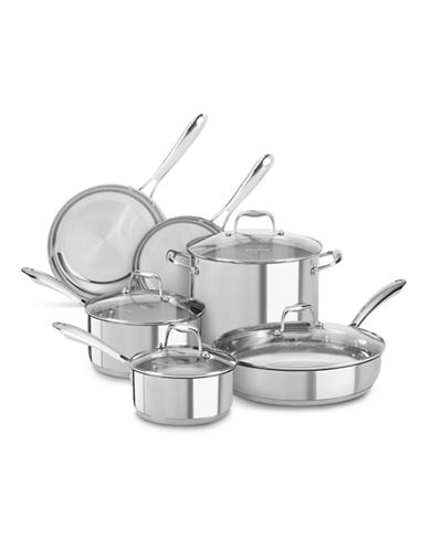 Kitchenaid Stainless Steel 10-Piece Set - Induction Ready-SILVER-One Size