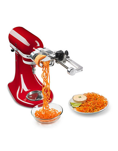 Kitchenaid Spiralizer with Peel Core and Slice - Stand Mixer Attachment-SILVER-One Size
