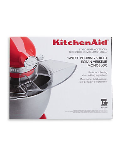 Kitchenaid One-Piece Pouring Shield Stand Mixer Attachment-CLEAR-One Size
