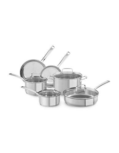 Kitchenaid Stainless Steel 10-Piece Cookware Set - Induction Ready-STAINLESS STEEL-One Size