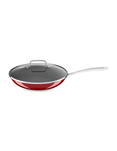 Kitchenaid Two-Piece Stainless Steel Fry Pan Set-CANDY APPLE RED-12