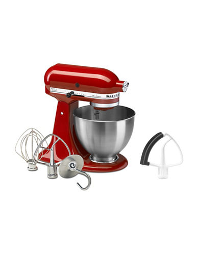 Kitchenaid Ultra Power Stand Mixer + Bonus Flex Edge Beater-RED-One Size