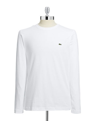 Lacoste Pima Cotton Long Sleeve Top-WHITE-X-Large 86280601_WHITE_X-Large