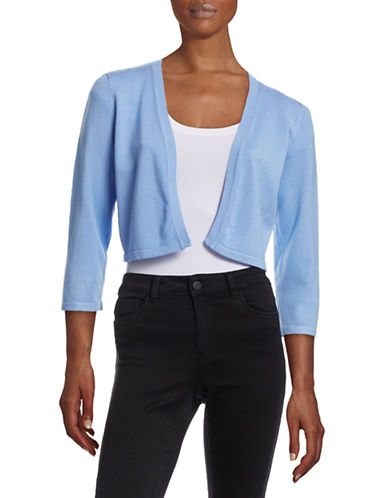 Chetta B Open-Front Shrug-BLUE-X-Small