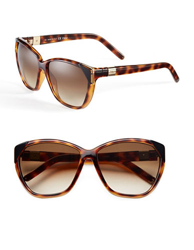 Chloé Tipped Cat-Eye Sunglasses-TORTOISE-One Size