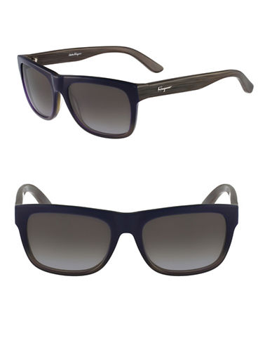 Salvatore Ferragamo SF686S 56mm Wayfarer Sunglasses-BLUE-One Size