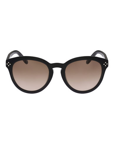 Chloé Small Studded Round Sunglasses-BLACK-One Size