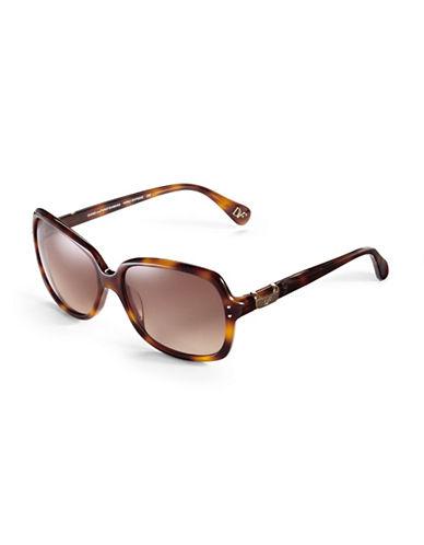 Diane Von Furstenberg Square Sunglasses-TORTOISE-One Size
