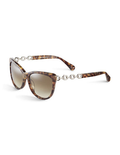 Diane Von Furstenberg Tortoise Link Cat-Eye Sunglasses-TOKYO TORTOISE-One Size