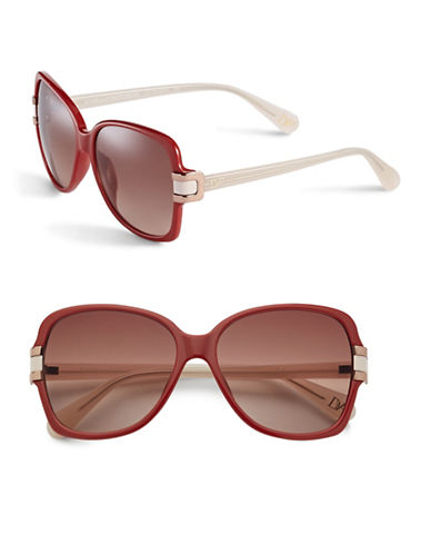 Diane Von Furstenberg DVF587S 57mm Square Sunglasses-BURGUNDY-One Size