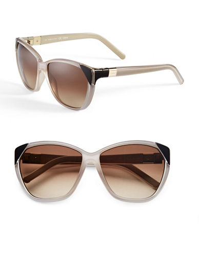 Chloé Tipped Cat-Eye Sunglasses-TURTLEDOVE-One Size