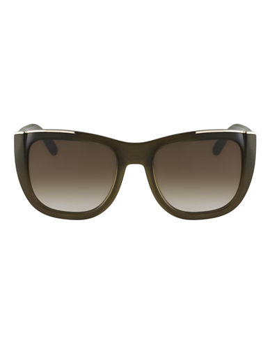 Chloé CE659S Dallia Square Sunglasses-KHAKI-One Size