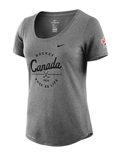 Nike Team Canada Dry Tee-CHARCOAL-X-Large