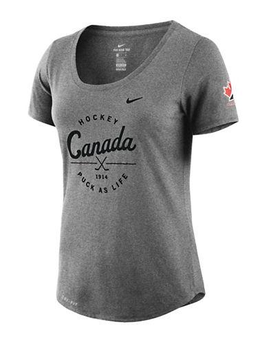 Nike Team Canada Dry Tee-CHARCOAL-Small