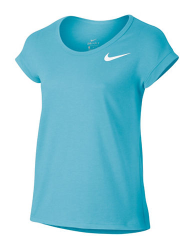 Nike Dri-fit Scoop Neck T-Shirt-BLUE-Small 88986277_BLUE_Small