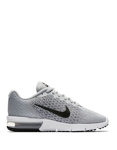 Nike Womens Air Max Sequent 2 Running Shoes-GREY-7