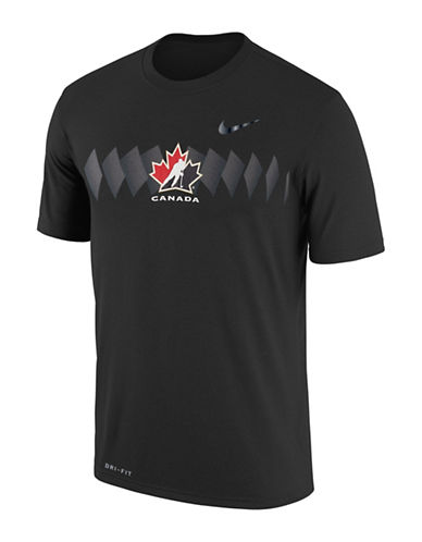 Nike Team Canada Legend Dry T-Shirt-BLACK-Medium