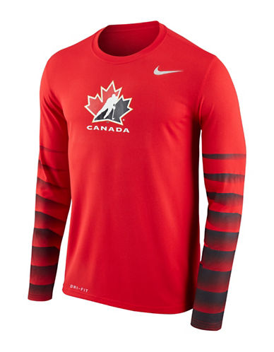 Nike Team Canada Legend Shirt-RED-Large