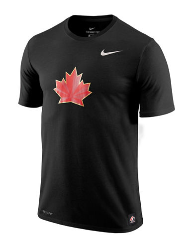 Nike Team Canada Dry T-Shirt-BLACK-Large
