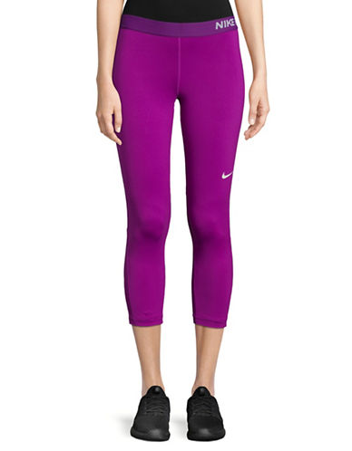 Nike Cropped Leggings-BERRY-Medium