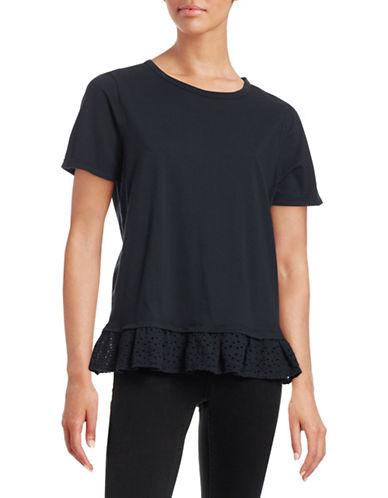 Clu Solid Mix-Media T-Shirt-NAVY-Medium