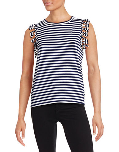 Clu Fringed Stripe Combo Tank-NAVY-X-Small