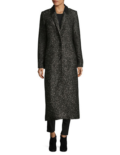 Lamarque Wool-Blend Maxi Coat-GREY-Large