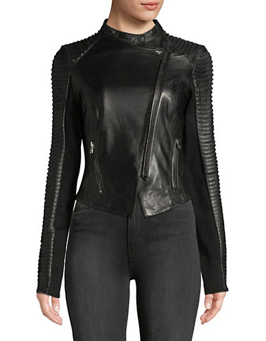 Paige Leather Moto Jacket by Lamarque