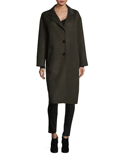 Lamarque Wool-Blend Oversized Coat-GREEN-Large