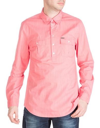 Guess Sunset Sport Shirt-CORAL-Large