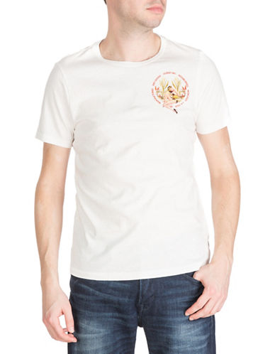 Guess Short Sleeve Pin Up Palms Crew Tee-WHITE-Small 88380844_WHITE_Small