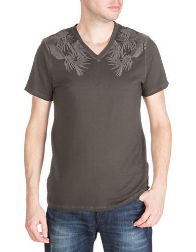 Guess Short Sleeve Rock Palms V-Neck Tee-BLACK-Medium 88380820_BLACK_Medium