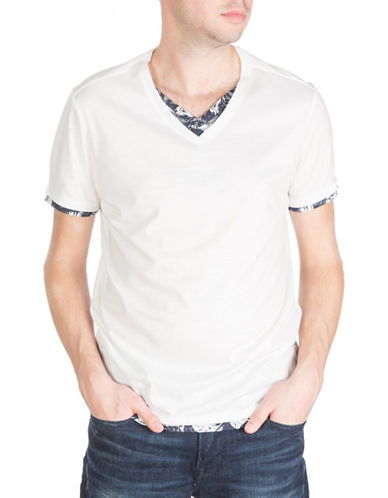 Guess Mason V-Neck T-Shirt-WHITE-X-Large 88380966_WHITE_X-Large